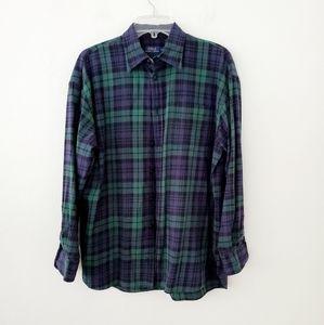 Polo Ralph Lauren Navy/Green Plaid shirt L